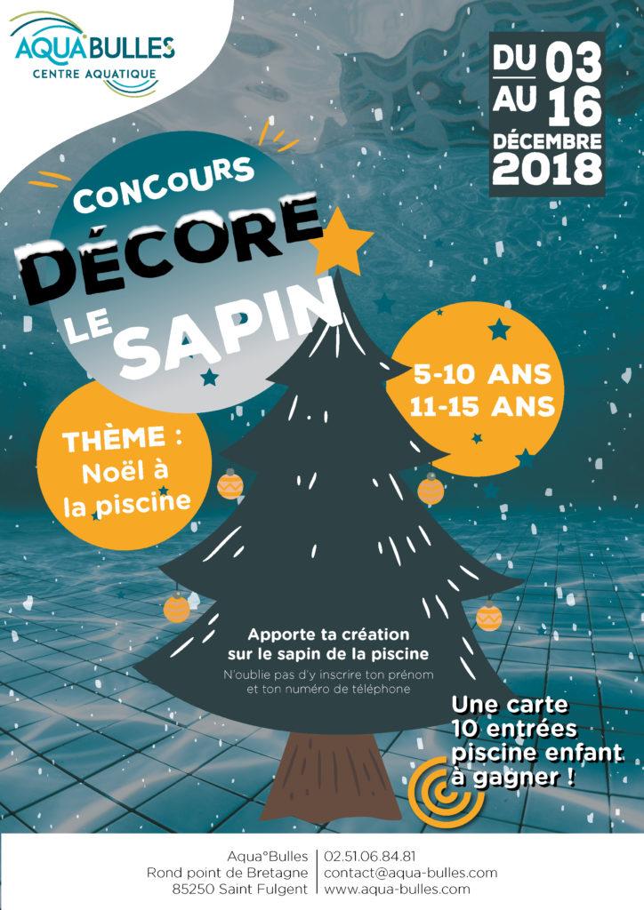 Concours Décor le sapin _ Piscine Aqua°Bulles