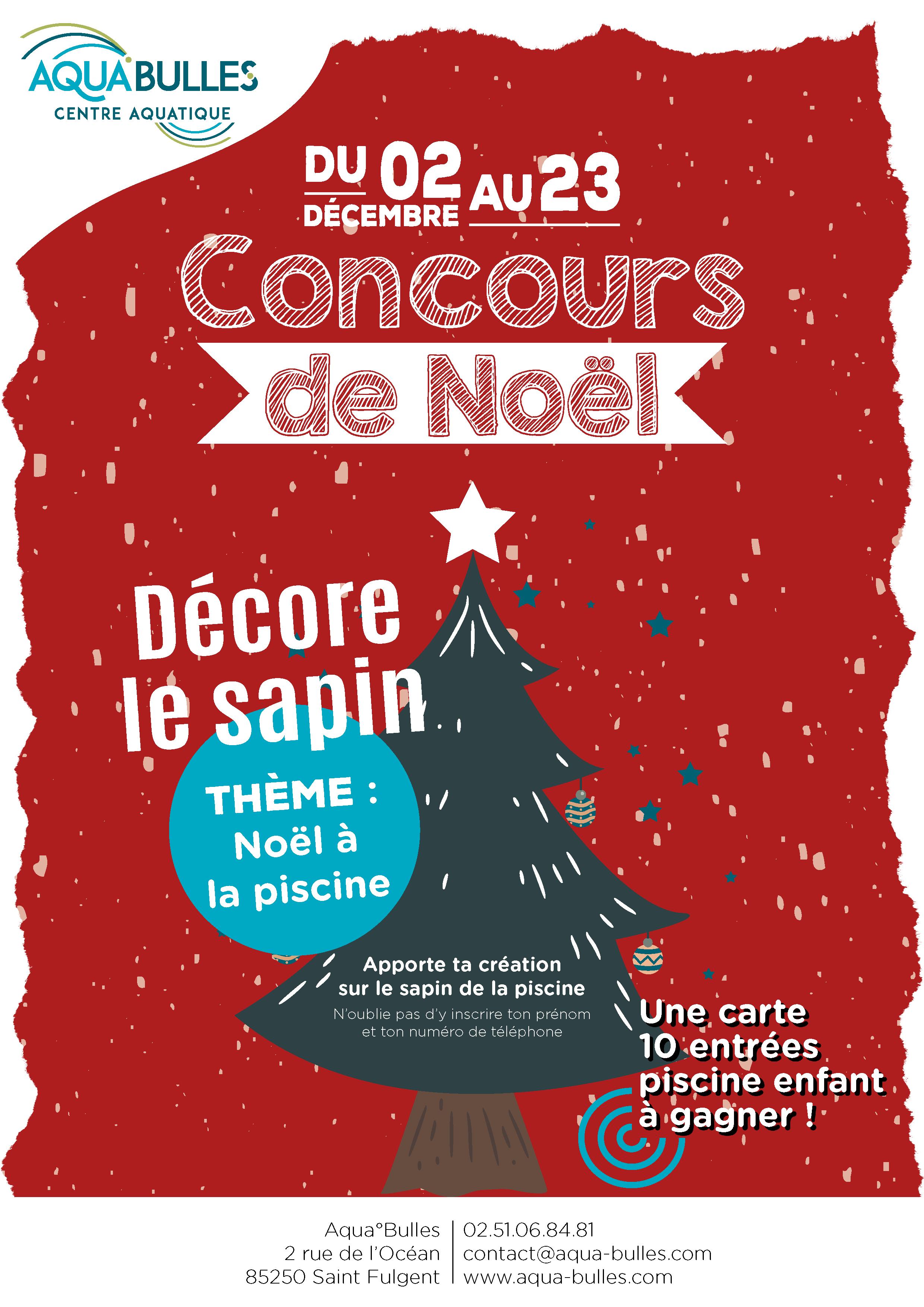 Concours - Décoration de noël - Piscine Aquabulles