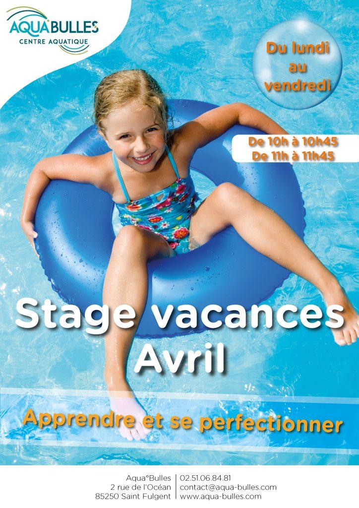 Stage Vacances Avril 2019 Aqua°Bulles