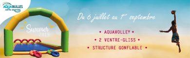 Animations d'été de la piscine Aqua°Bulles