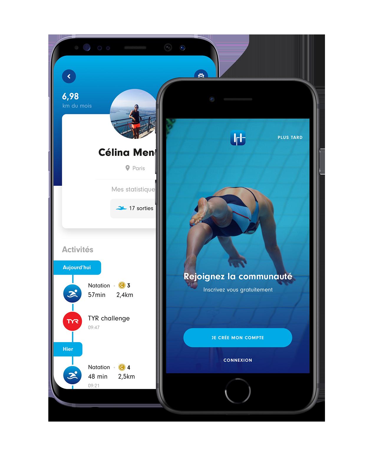 Meilleures applications pour nageurs
