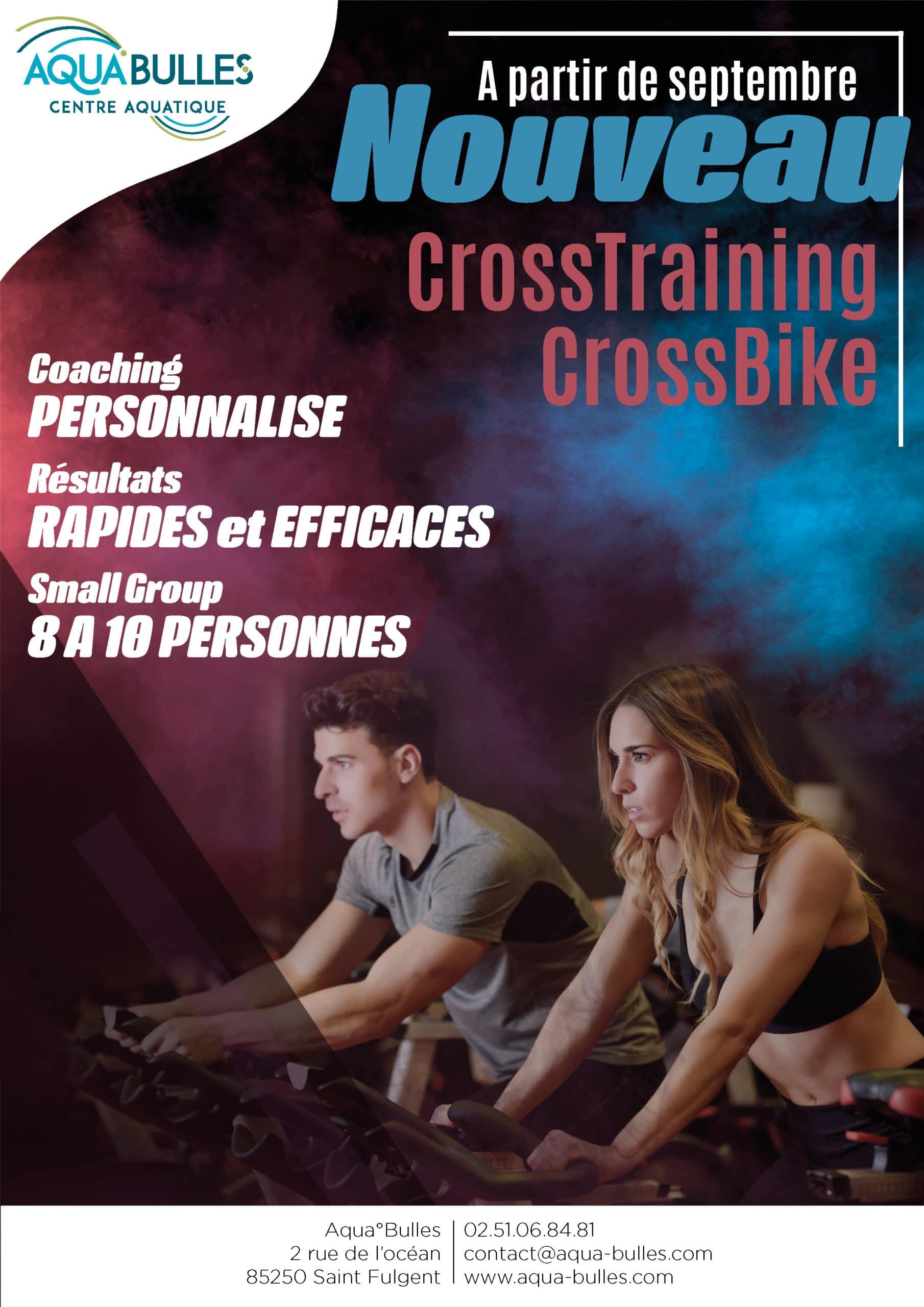 Activité fitness en salle - Crosstraing - Crossbike - Aqua°Bulles